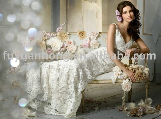 2010 new style wedding gown /FYH-WD00332