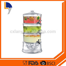 High quality beverage dispenser and 3 Gallon Acrylic Beverage Dispenser With Ice Core