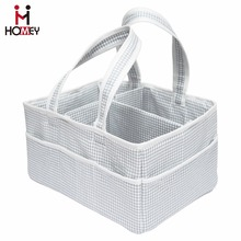 100% Cotton Diaper Caddy Storage and Nursery Organizer / Portable/ New Arrival