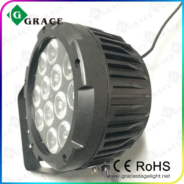 New 2015 12X8 flat slim pro led par with powercon for indoor use