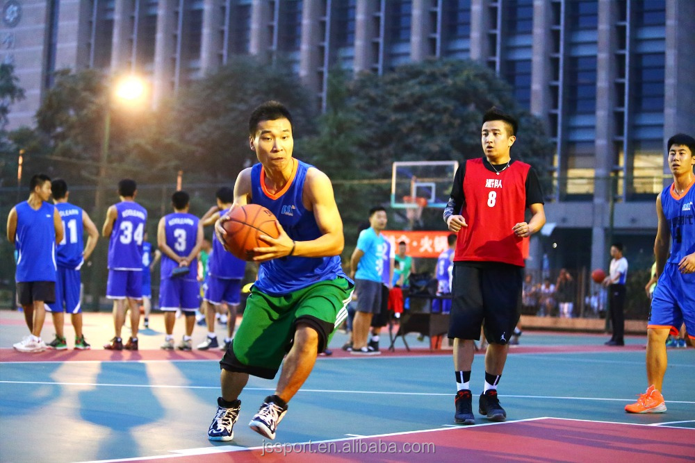 Outdoor basketball court pp sports flooring on hot sale