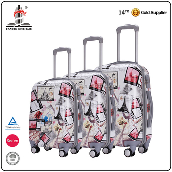 "Factory supply custom design 20"" 24"" 28"" printing suitcases travel luggages"