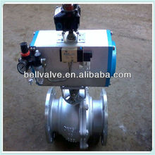 PN16 pneumatic mechanical ball valve