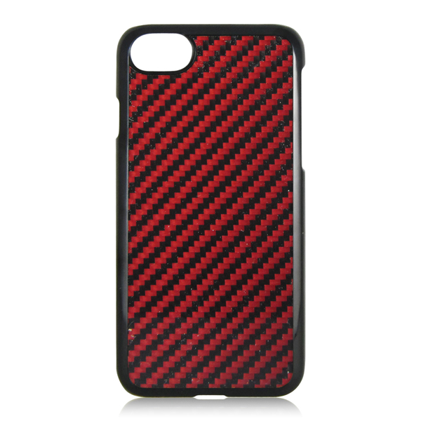 2017 New Hot Selling 4 Colors Available Carbon Fiber Plate Pattern PC Case for iPhone 7