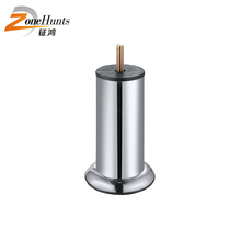 Wholesale useful silver polish cylinder adjustable chrome iron furniture settee feet