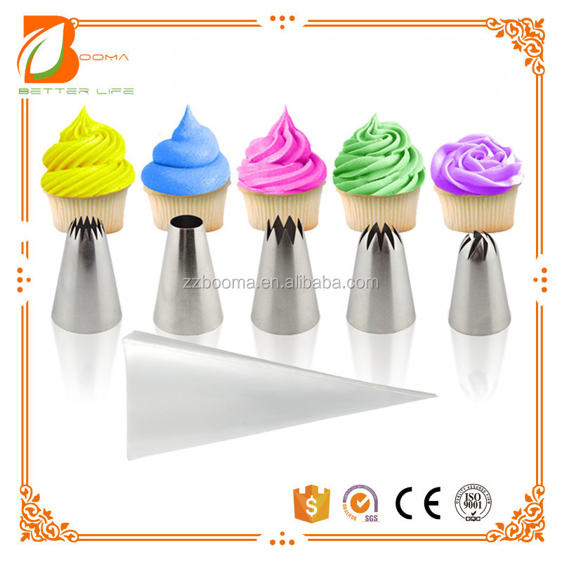 Food grade cake decoration tips set piping nozzles flower nails for cakes, cupcakes and cookie decoration pastry tool