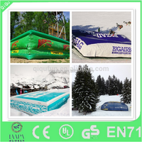 2015 cheap pvc inflatable jump air bag for skiing on top sales
