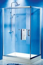 Bathroom sanitary glass color pattern aluminum shower room