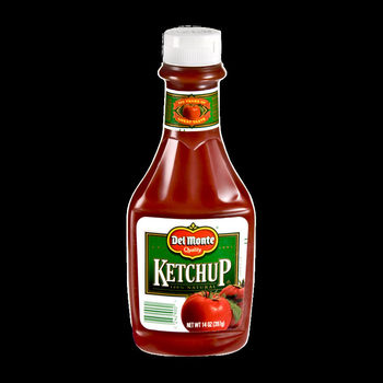 DELMONTE TOMATO KETCHUP SQUEEZE BOTTLE 12 CASE 14 OUNCE