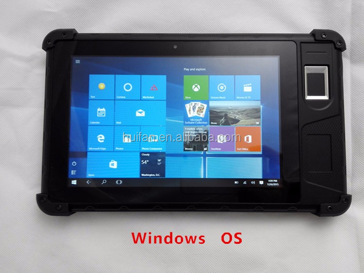 Dual Windows Android Census SIM Registration Fingerprint Head Barcode Scanning Handheld With 8 Inch Touch Screen FP08