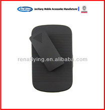 Hybrid hard case cover for blackberry 9900 with belt clip