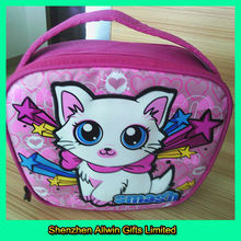 600D polyester insulated fashion kids lunch bag
