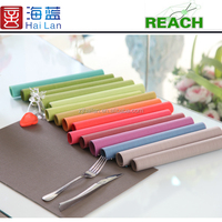 pvc coated polyester mesh table runner dining table cloth fabric factory china