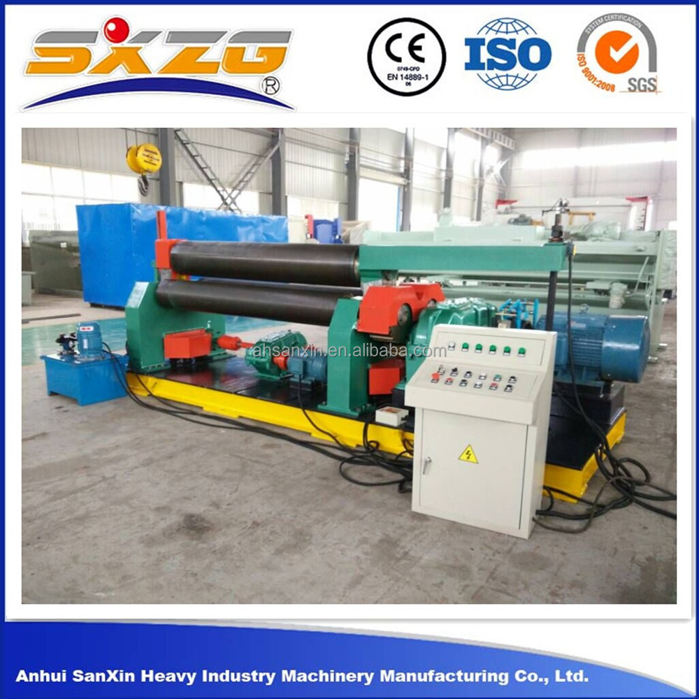 W11 2500mm Mechanical hydraulic metal plate rolling machine and roller bending machine