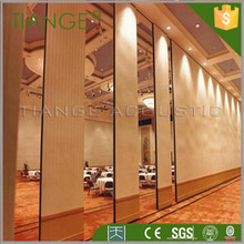 Removable sliding folding partition acoustic partition for interior place