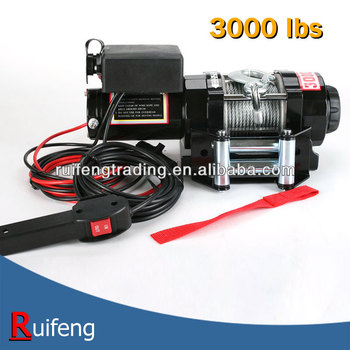 12V, 24V 3000lbs Electric ATV Winch