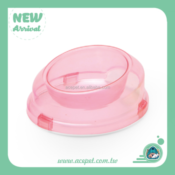 864-A Plastic Crystal Clear Pet Bowl Dog Cat Bowl