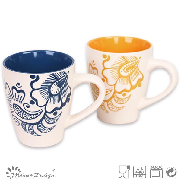Stoneware Ceramic V Shape Round Number Mugs Buy Unique