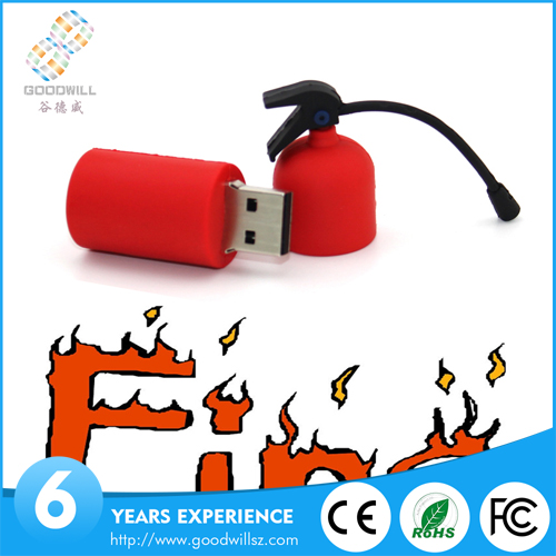 Custom pendrive 1GB 2GB 4GB 8GB Fire Extinguisher Shape USB,cheap pen drive