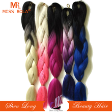 Afro Ombre Two Tone Hair Kanekalon Braiding Jumbo Women Hair Braid Synthetic Hair Extensions