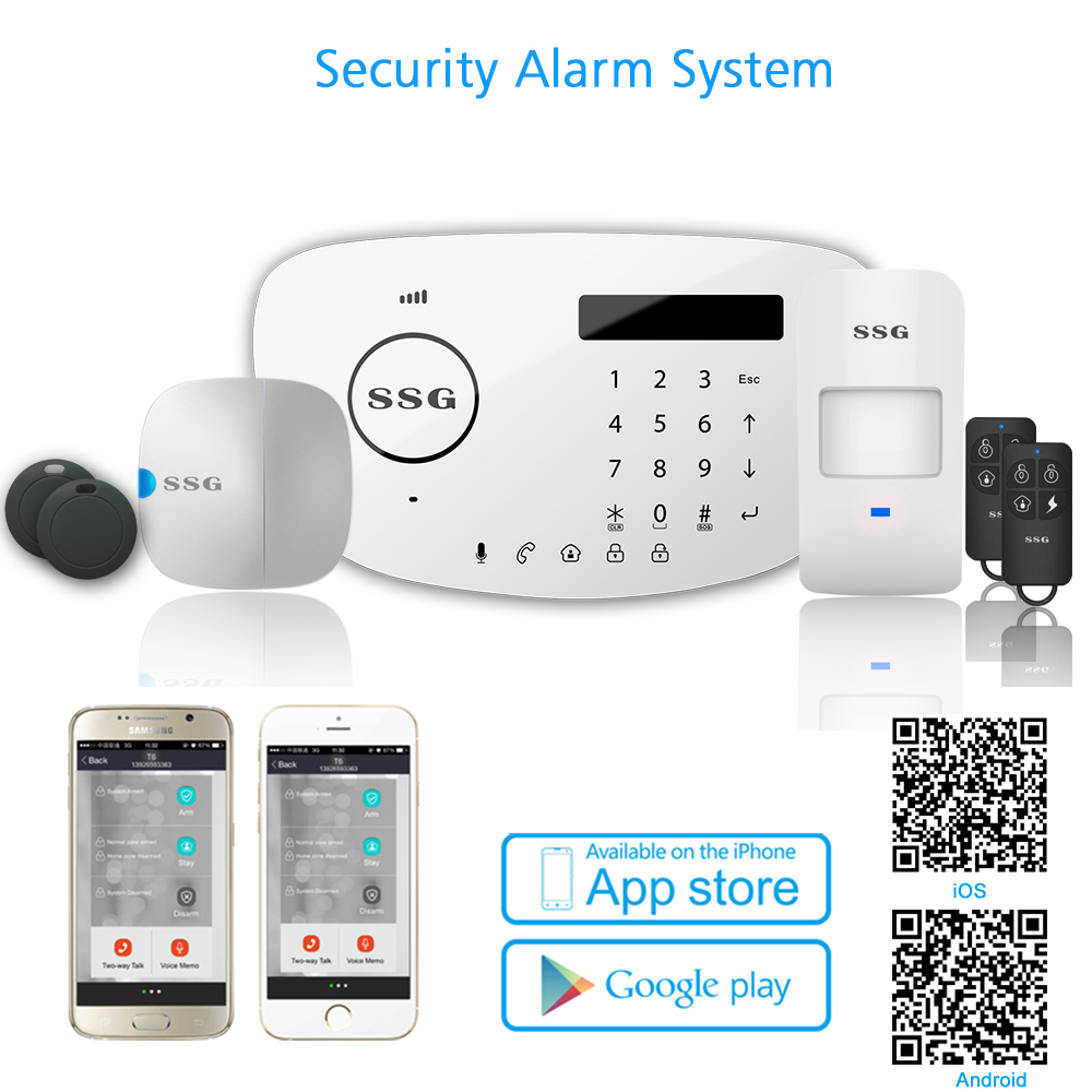 2017 hottest home automation alarm system with APP WiFi GSM PSTN alarm system wireless home security alarm