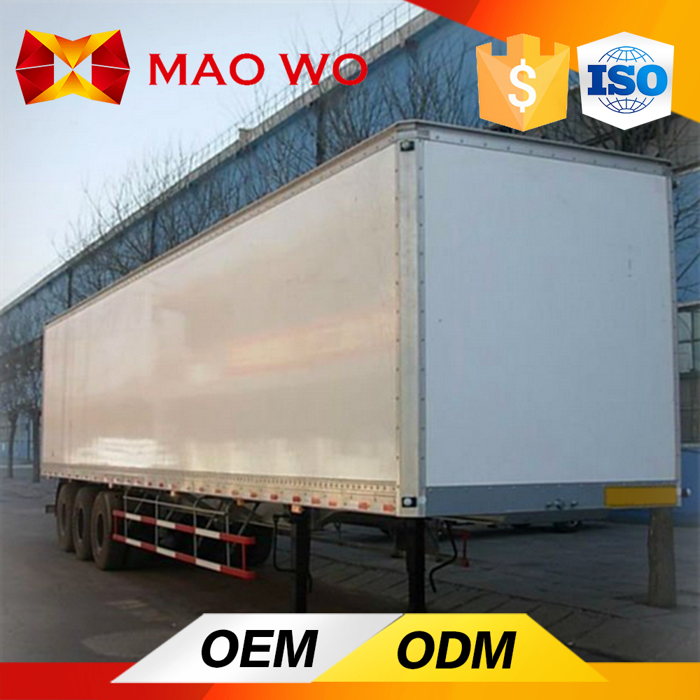 3 axle cargo box freezer truck used refrigerated trailers for sale