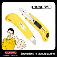 Hand Tool Utility Knife Box Cutter Plastic Free Sample Knife with Auto Lock