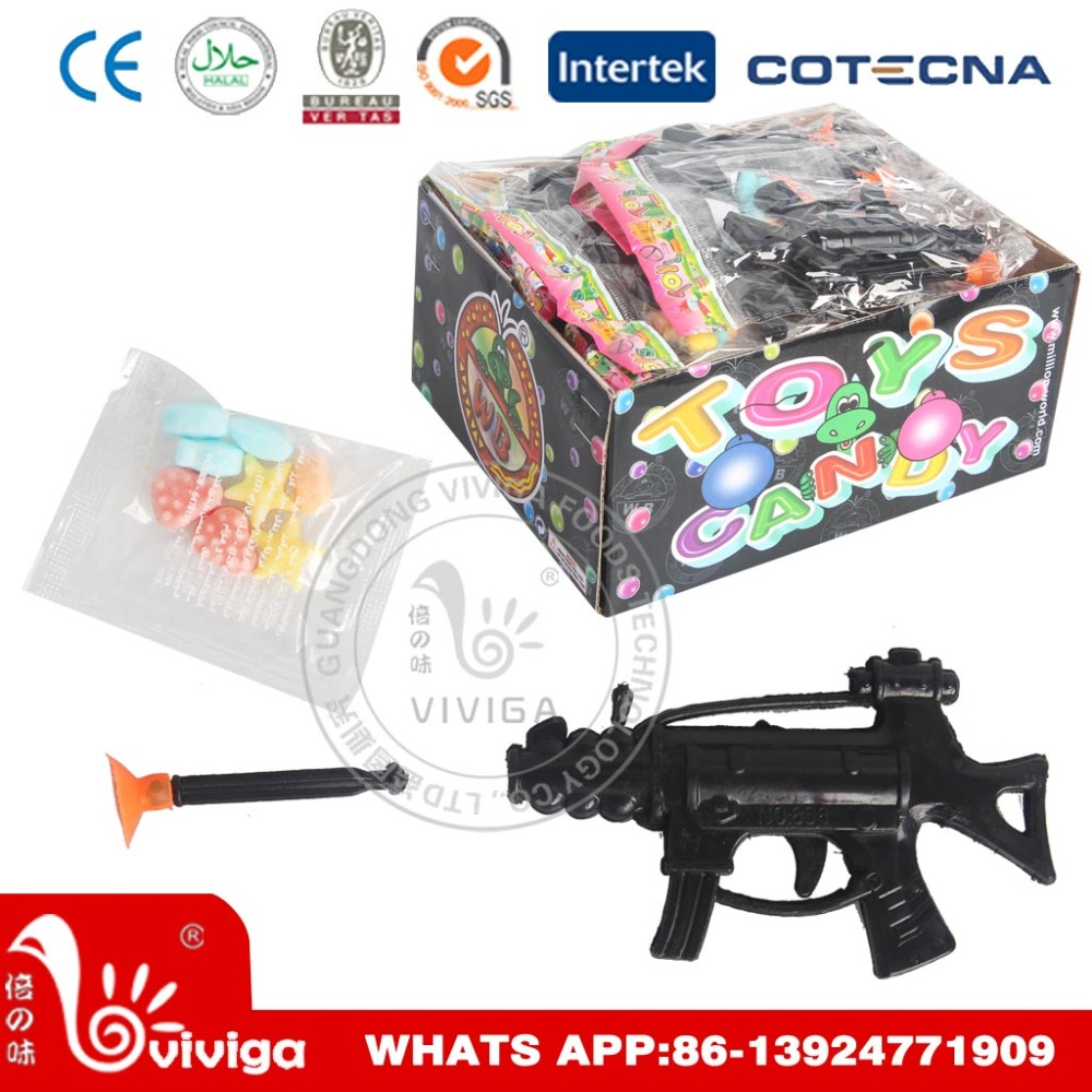 Plastic Small Gun Toy Candy Sweet