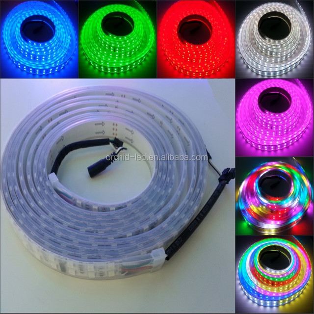 2016 Wholesale Instock clearance price Christmas Decoration 12VDC Intelligent TM1812 Programmab Dual Row RGB LED flexible Strip