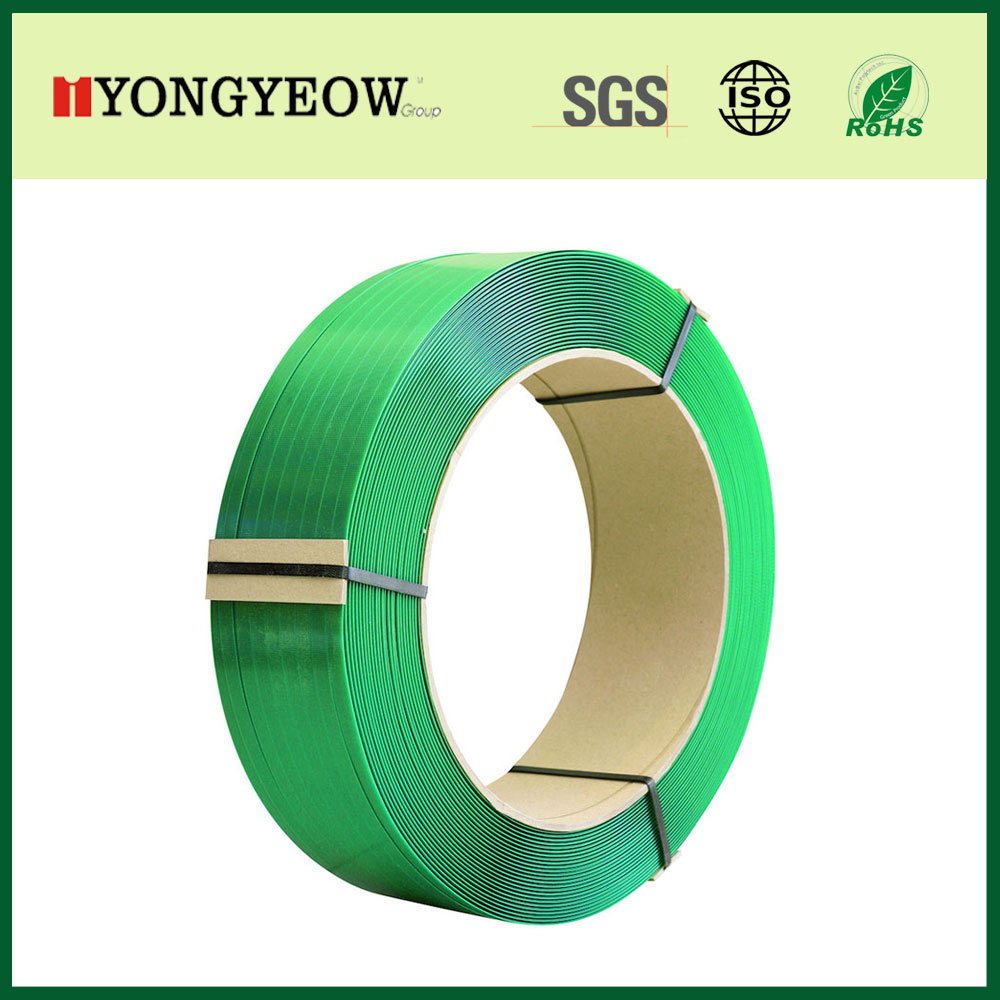 high strength machine grade green embossed 5/8 pet strapping band