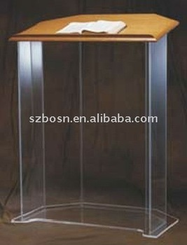 Detachable Acrylic Lectern With Wood