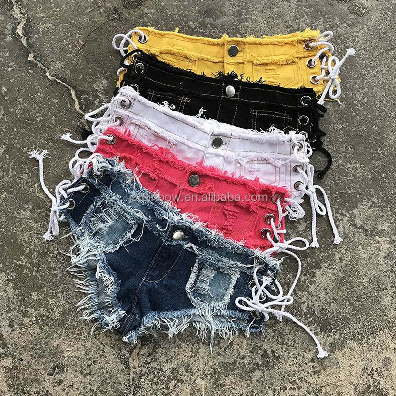 2017 Hot selling bandage hot shorts women sexy jeans shorts wholesale