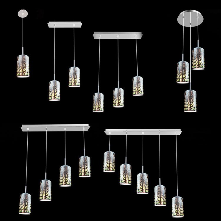 American style 3d chandeliers with glass shade