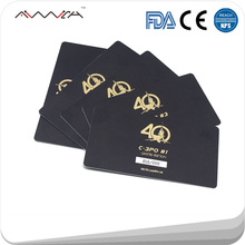 Custom PVC Card Different Barcodes Foiling Gold PVC Business Card