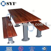 antique wooden park bench - SYI Group