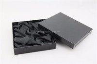 Simple black paper packaging box