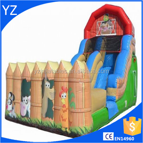 Inflatable 18'H Farm Slide Wet n Dry For Sale