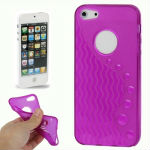 Wave Lines TPU Case for iPhone 5 (Purple)