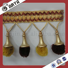 Pompom Curtain Fringe Trimming With Trumpet Model And Pompom Ball For Curtain Tapestry Valances Mosquito Net