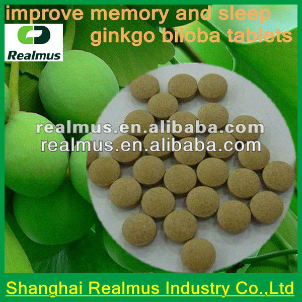 GMP certified Health care product best selling Ginkgo Biloba Tablet