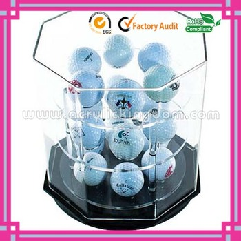 Removable acrylic sports ball display