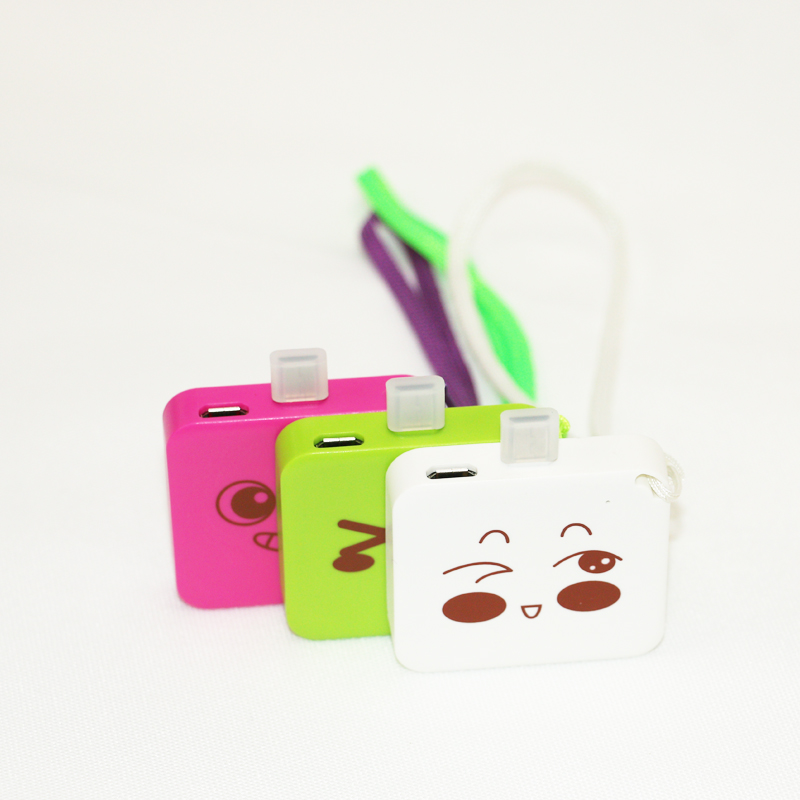 emergency gift power bank 800mah phone charger phone cover power bank