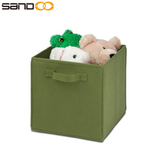 Foldable Soft organizers kids storage box, foldable storage cube basket bin