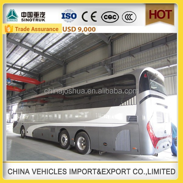 CHINA SINOTRUCK high quality passenger city bus 50 seater bus used luxury bus