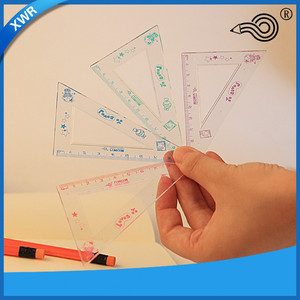 Wanrun cute school stationery safety ruler set