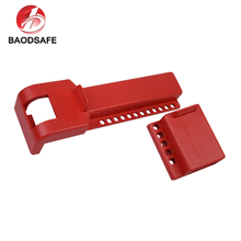 BAODI New Design Customized Durable Red Colour Safety ABS Valve Lock Padlock