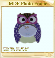 owl shape mdf photo picture frame