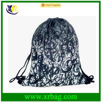Women Mochila Man Gym bags Travel Backpack Type Printing Waterproof Drawstring Bag