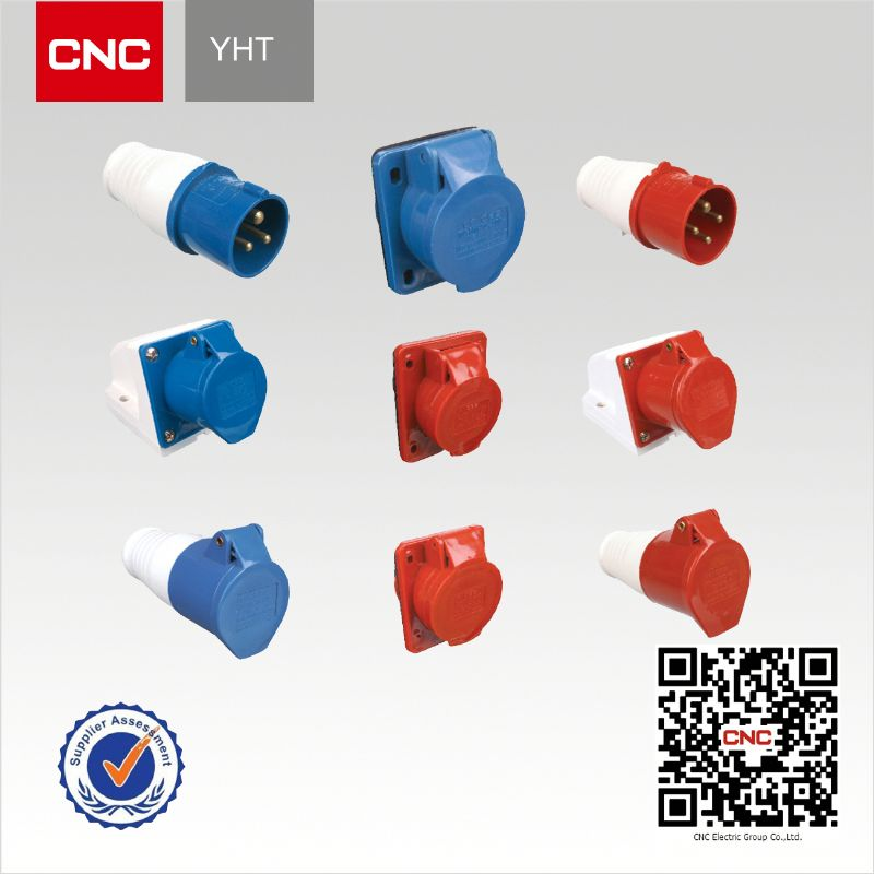 Good quality and competitive price YHT industrial socket and plug ip44 ip67