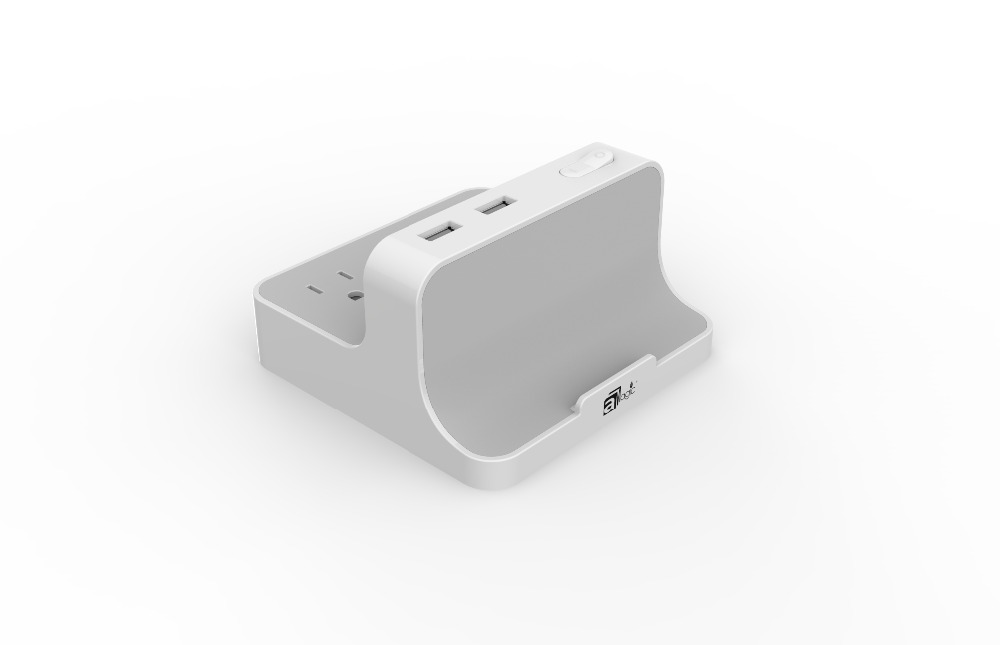 1.5m White Color Customized Plug 3-Gang Tabletop Electrical Sockets with 2 USB Outlet